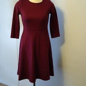 Lands' End dress 3/4 sleeve